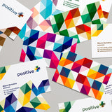 Positive & Plus Abstract Modern Business Card Logo