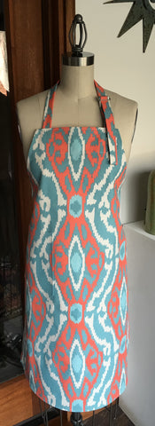 Apron - Aztec - Turquoise and Coral