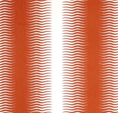 Apron - orange and white zig