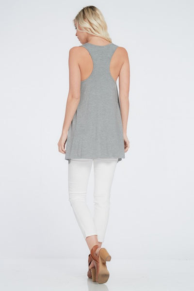 Grey Swing Racer Back Top