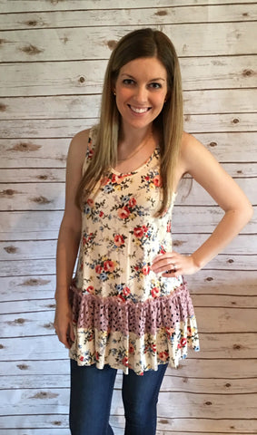 Flowers and Lace Tunic