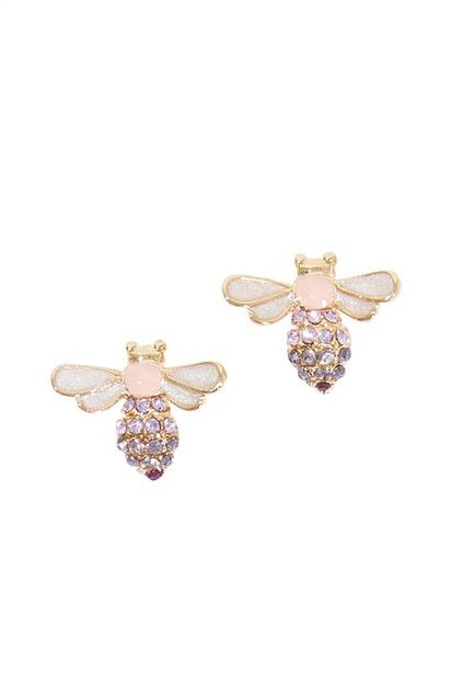 Tiger Tree Busy Bees Earring Pink - Global Free Style