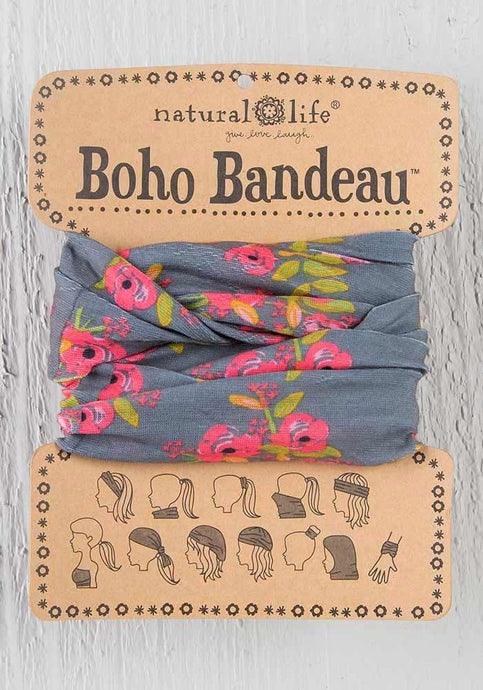 Natural Life Charcoal Blooms Boho Bandeau - Global Free Style