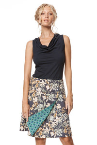 MahaShe Chameleon Reversible Skirt Zinnia and Kaleido Teal - Global Free Style