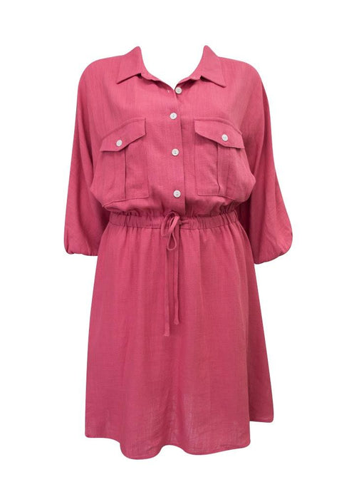 Sunny Girl Anneka Shirt Dress Rose - Global Free Style