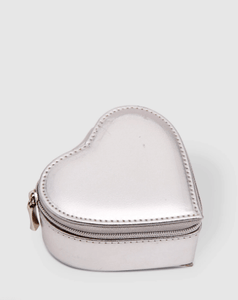 Louenhide Heart Jewellery Box Metallic Silver - Global Free Style