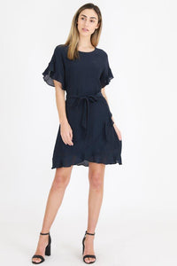 3rd Love Mok Wrap Dress Indigo Blue - Global Free Style