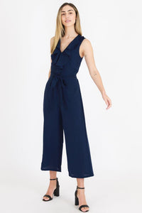 3rd Love Ruffle Pantsuit Indigo Blue - Global Free Style