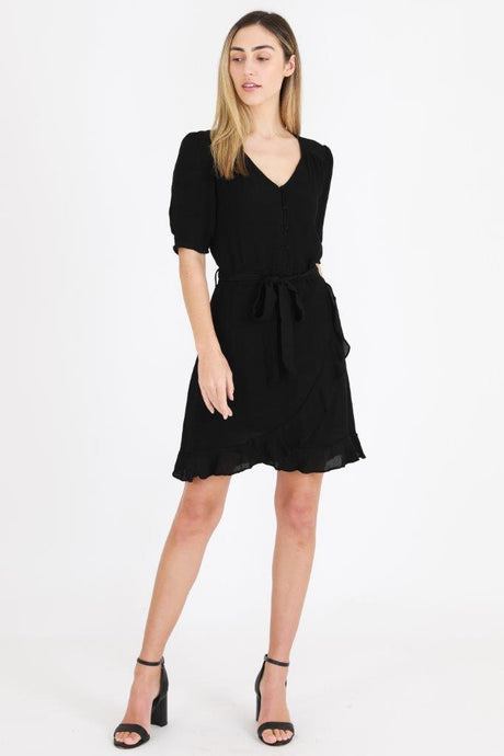 3rd Love Ruffle Dress Black - Global Free Style