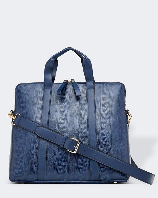 Louenhide Rhodes Lizard Navy Laptop Bag - Global Free Style