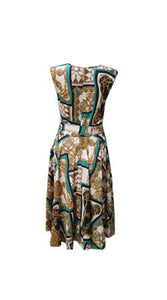 Timeless by Vannessa Tong Versace Sleeveless Dress Jade Green and Gold - Global Free Style