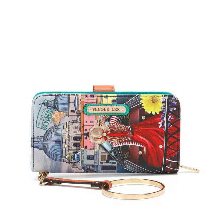 Nicole Lee Fashion Print Wrislet Wallet Honeymoon In Venezia - Global Free Style