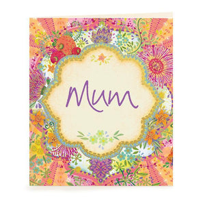 Intrinsic Mum Blooms Gift Tag - Global Free Style
