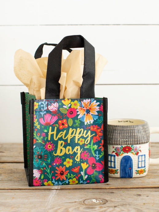 Natural Life Happy Bag Small Teal Gold Floral - Global Free Style