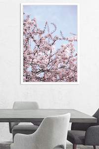 White Moose Canvas Print - Blossom - Global Free Style
