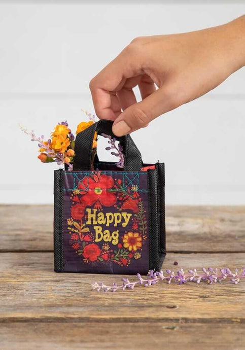 Natural Life Happy Bag Extra Small Black Floral - Global Free Style