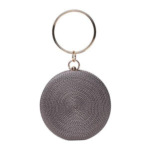 Ameise Round Bangle Evening Bag Pewter Silver - Global Free Style