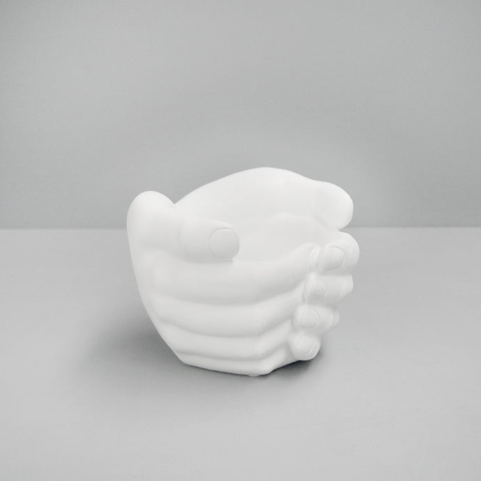 White Moose Hand Planter White - Global Free Style