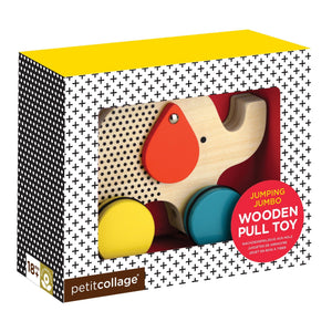 Petitcollage Wooden Elephant Pull Toy - Global Free Style