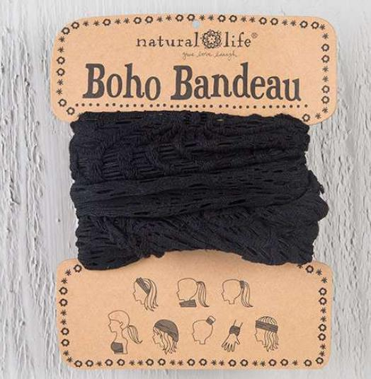 Natural Life Crochet Boho Bandeau Black - Global Free Style