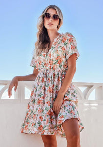 Sanctum The Label Marketta Dress White Floral - Global Free Style