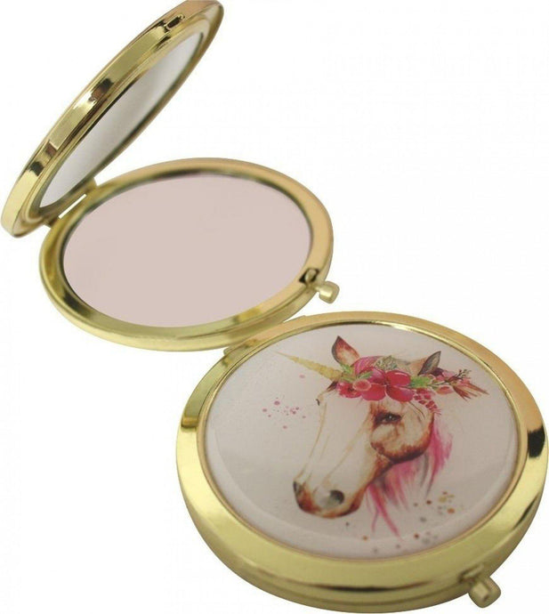 Lavida Compact Mirror Floral Unicorn - Global Free Style