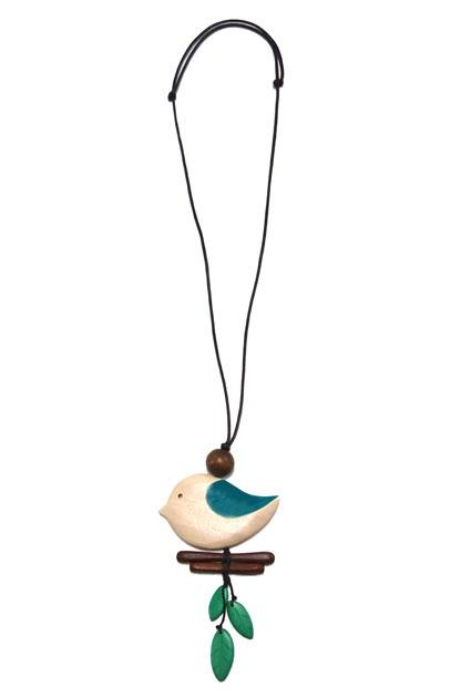 Cinnamon Creations Tinaburra Bird Necklace - 4 colours - Global Free Style