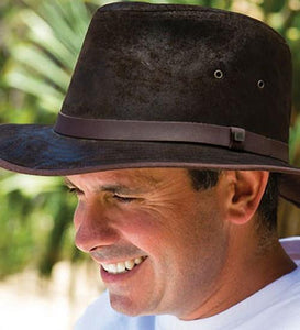 Kooringal Mens Drover Hat Bourke Brown
