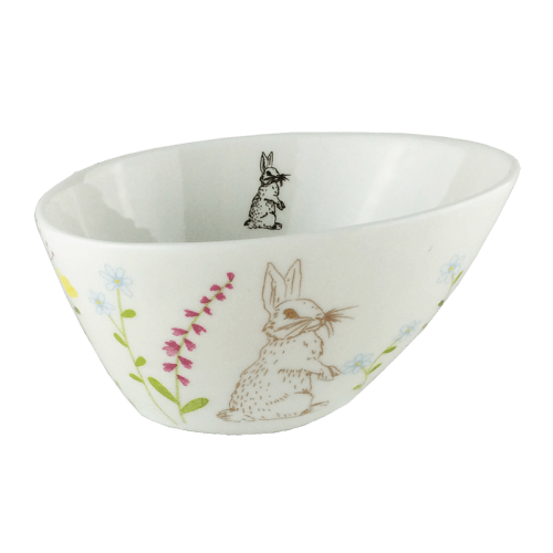 Urban Bowl Bunny with Flowers - Global Free Style