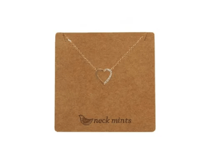 Neck Mints Cubic and Brushed Heart Necklace - Global Free Style
