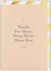 Lagom Design Card Thanks for Always Being There Mama Bear - Global Free Style