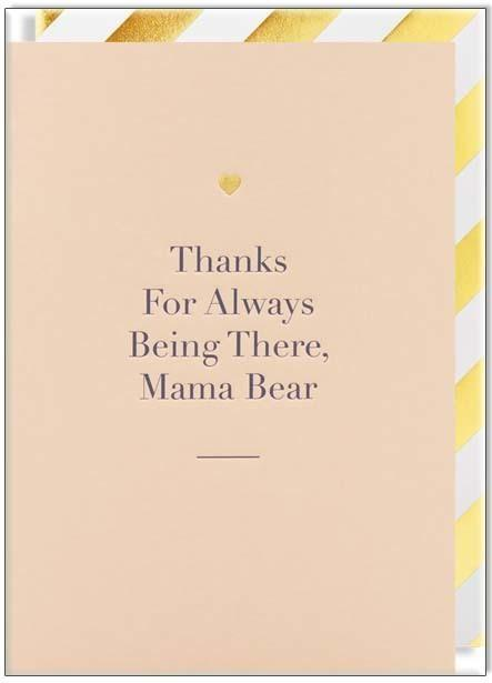 Waterlyn Card Thanks for Always Being There Mama Bear - Global Free Style