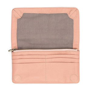 Rare Rabbit Voyager Leather Large Wallet Blush Pink - Global Free Style