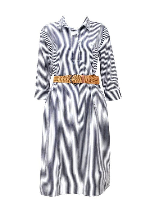Sunny Girl Stripe Midi Dress Long - 2 Colours - Global Free Style