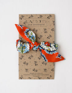 Lazybones Scrunchie with Bow Aloha - Global Free Style