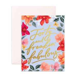 Fox & Fallow Greeting Card FORTY & FABULOUS - Global Free Style