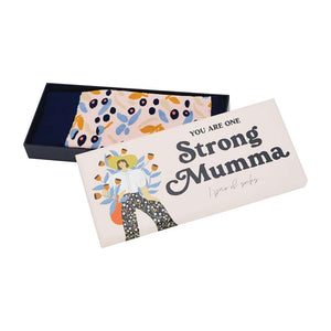 Annabel Trends Boxed Jacquard Socks One Strong Mumma - Global Free Style
