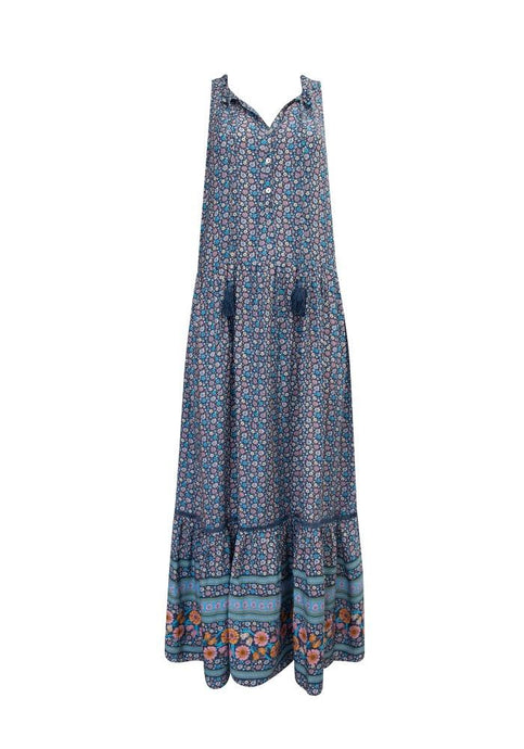 Label Of Love Rhya Long Dress Navy - Global Free Style