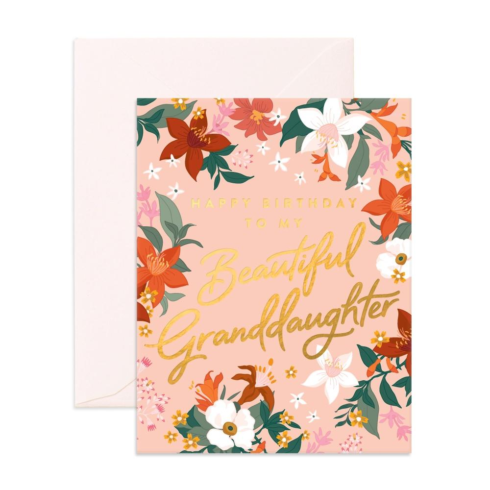 Fox & Fallow Greeting Card Beautiful Granddaughter - Global Free Style