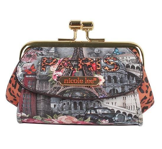 Nicole Lee Kiss Lock Coin Purse Paris In Fall - Global Free Style