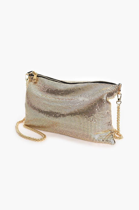Adorne Chain Mesh Slouch Small Bag - Global Free Style