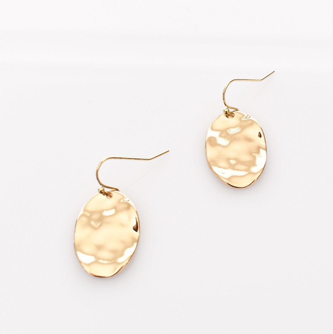 Adorne Elly Mini Drop Hook Earrings Gold - Global Free Style