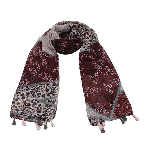 Ameise Scarf Lou Burgandy Red - Global Free Style