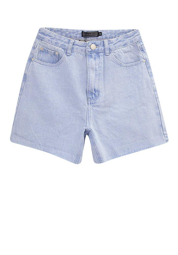 Country Denim Light Blue Shorts - Global Free Style