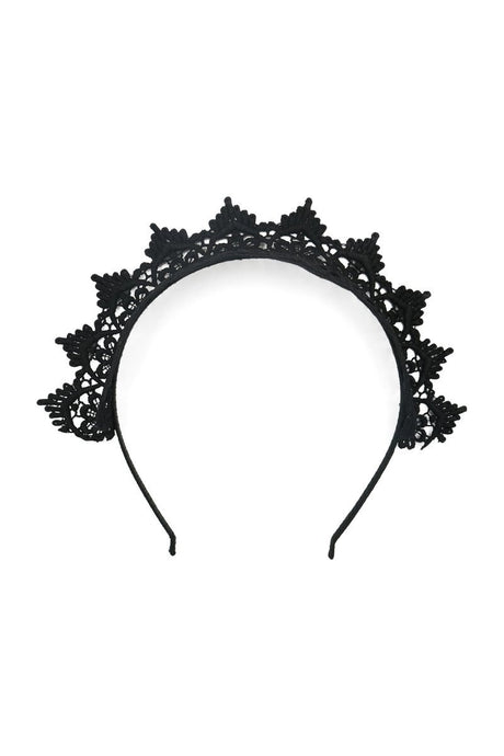 Morgan & Taylor Tori Lace Fascinator Headband - Black - Global Free Style