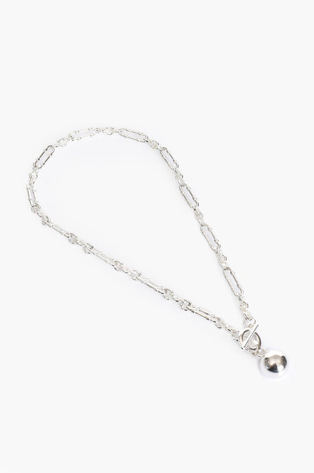 Adorne Vintage Chain and Ball Necklace Silver - Global Free Style
