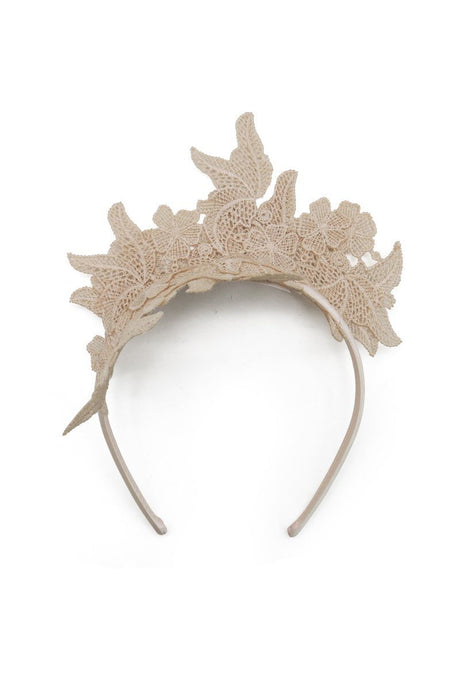 Morgan & Taylor Sassi Fascinator Headband - Beige - Global Free Style