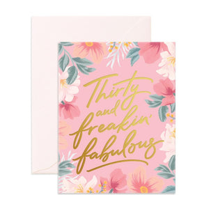 Fox & Fallow Greeting Card THIRTY & FABULOUS - Global Free Style