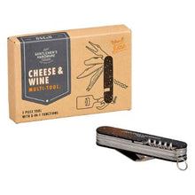 Gentlemans Hardware Cheese Board and Knife Set with Wine Opener - Global Free Style