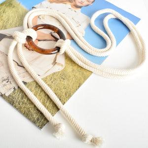 Adorne Resin Ring Rope Belt - Global Free Style
